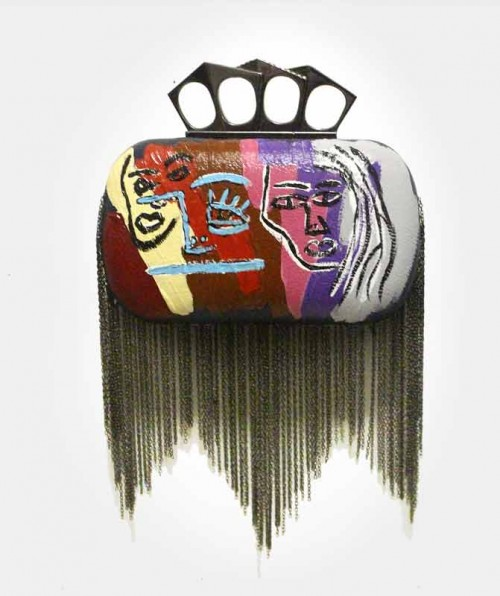 HAND PAINTED CLUTCH BY TARIK MENDES