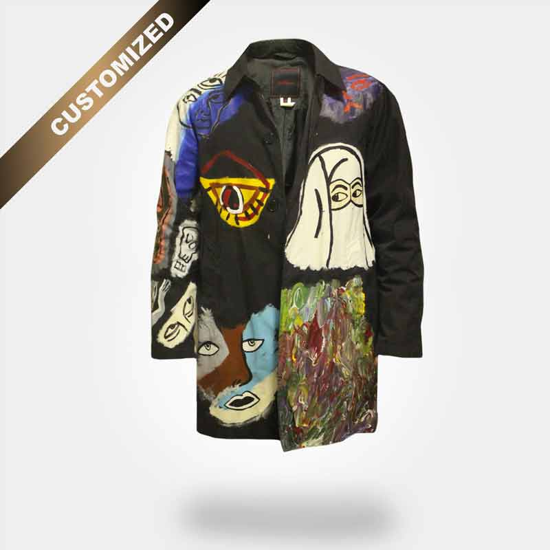 CUSTOMIZED HAND PAINTED RAIN COAT