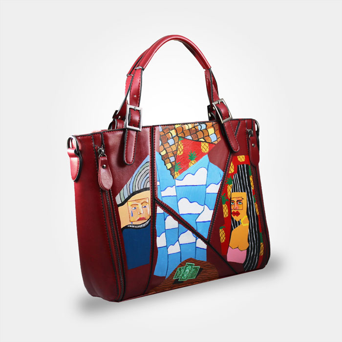 wearable art hand painted bag- man & woman