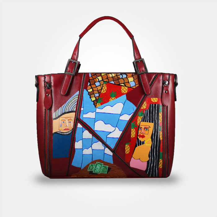 WEARABLE ART HAND PAINTED BAG