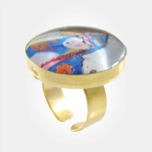 persian hand painted ring